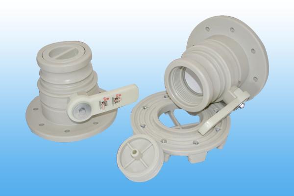 Open ball valve