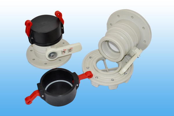 3 inch black cap white handle ball valve