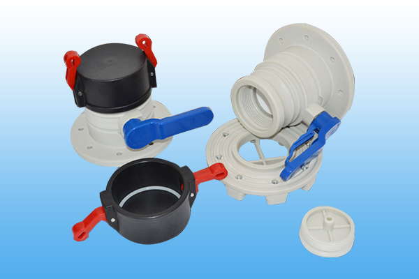 3 inch black cap  blue handle ball valve